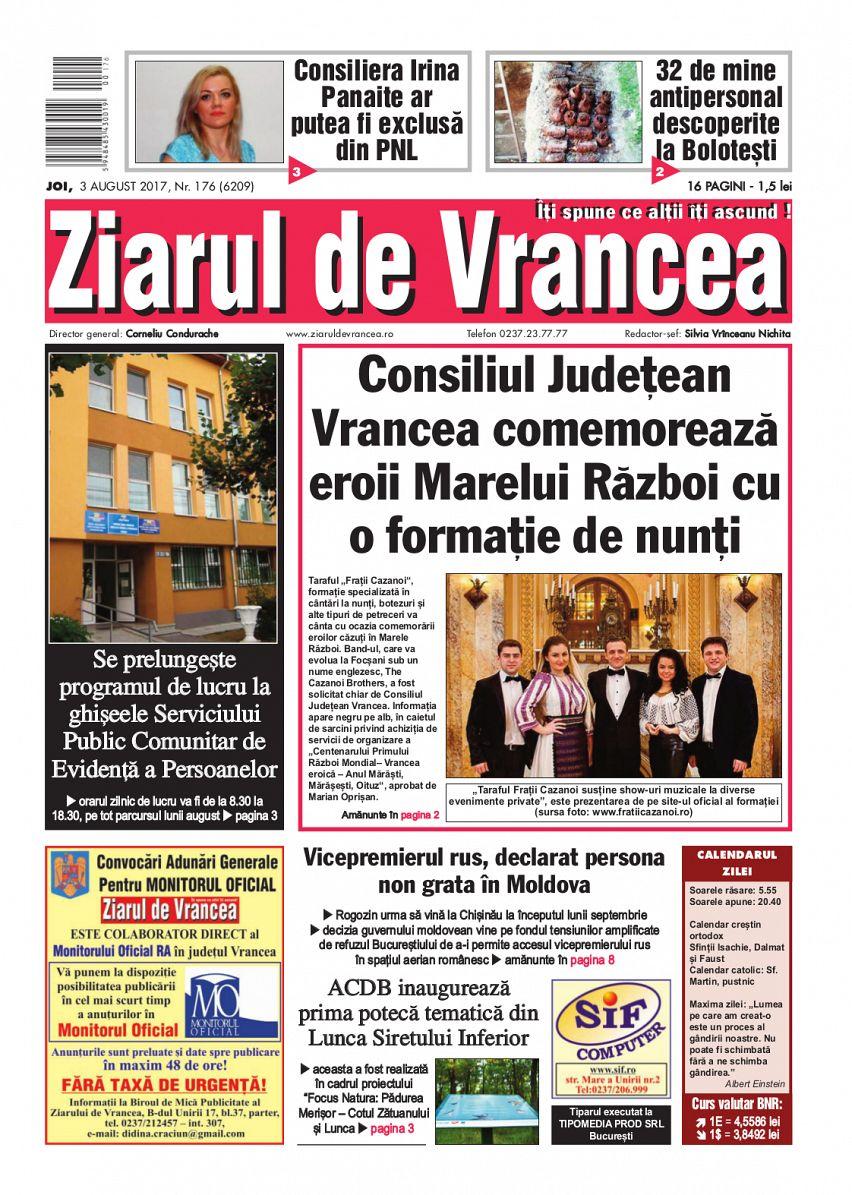 Abonament Ziarul de Vrancea pe o lună de zile - ediția tipărită-foto-mare-1