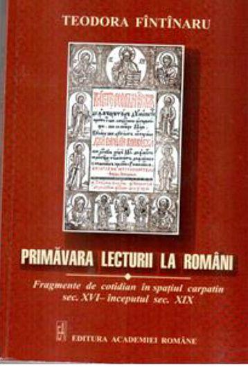 """Rânduri – Gânduri despre viată şi cărţi"""", cronică la cartea scriitoarei focșănence, Teodora Fîntînaru, """"Primăvara lecturii la români"""""""