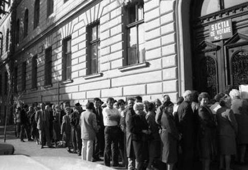 Alegerile de la 20 mai 1990 – Foto: agerpres.ro