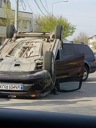 Fotografie transmisă de la locul accidentului de un cititor  ZdV.Mulțumim!