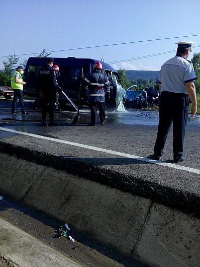Accident teribil la Bolotești - doi morți și 11 răniți - a fost activat Planul Roșu de intervenție-Foto 3 ISU Vrancea