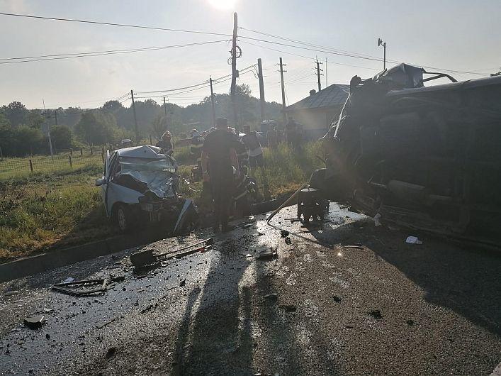 Accident teribil la Bolotești - doi morți și 11 răniți - a fost activat Planul Roșu de intervenție-Foto 5 ISU Vrancea