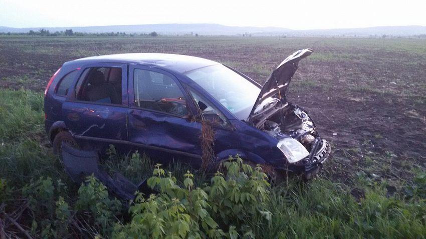 Fotografie de la locul accidentului transmisă de ISU Vrancea, prin purtător de cuvânt plt Cristina Pîrvu