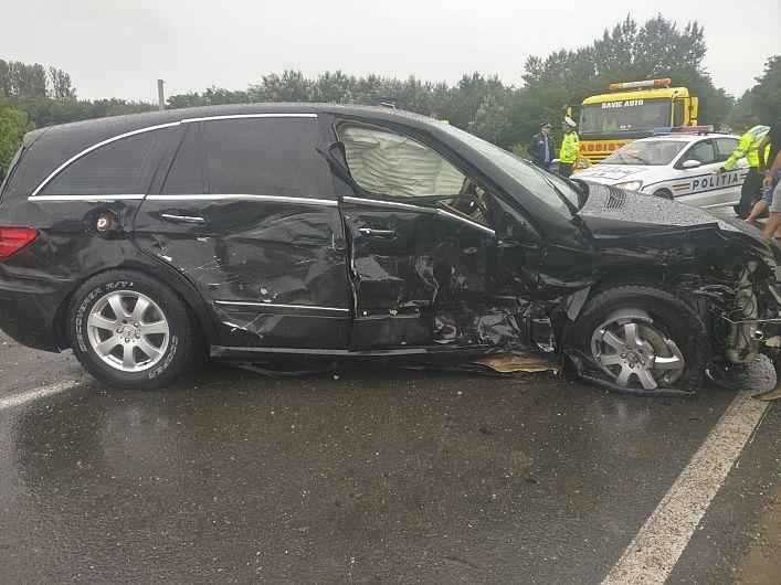 Accident rutier între Adjudu Vechi și Lespezi cu două victime încarcerate.Foto 2:ISU Vrancea