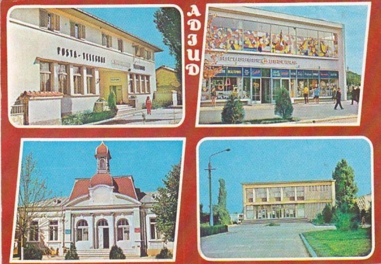 Vedere cu imagini din Adjudul anilor '70-Foto:Primăria Municipiului Adjud