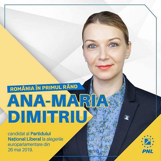 Foto Ana-Maria Dimitriu este pe poziția 15 în lista PNL la alegeri