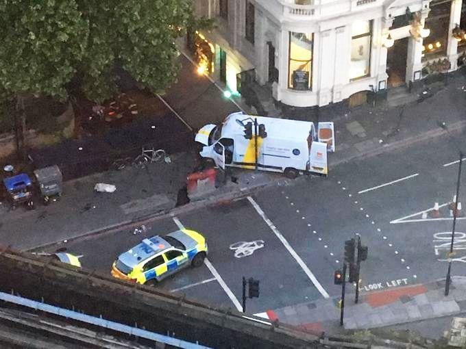Camioneta folosită în atacul de sâmbătă
