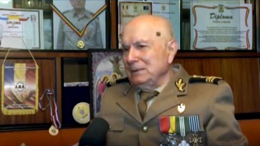 Veteranul de război col. (rtr) Ion Durnescu din Mărășești. Sursa foto: armed.mapn.ro