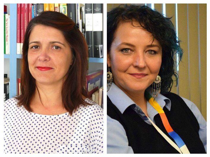 """Începând de luni, 10 iunie 2019, bibliotecarul Nicoleta  Oprișan, stânga, a înlocuit-o pe managerul demisionar, Margareta Tătăruș, dreapta, la conducerea Bibliotecii """"Duiliu Zamfirescu"""" Vrancea , instituție aflată în subordinea Consiliului Județean Vrancea"""
