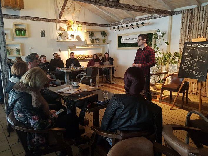 Valentin Mikes Manager Creamikes a susținut o prelegere la Cafeneaua Antreprenorială de la Focșani -10.02.2018