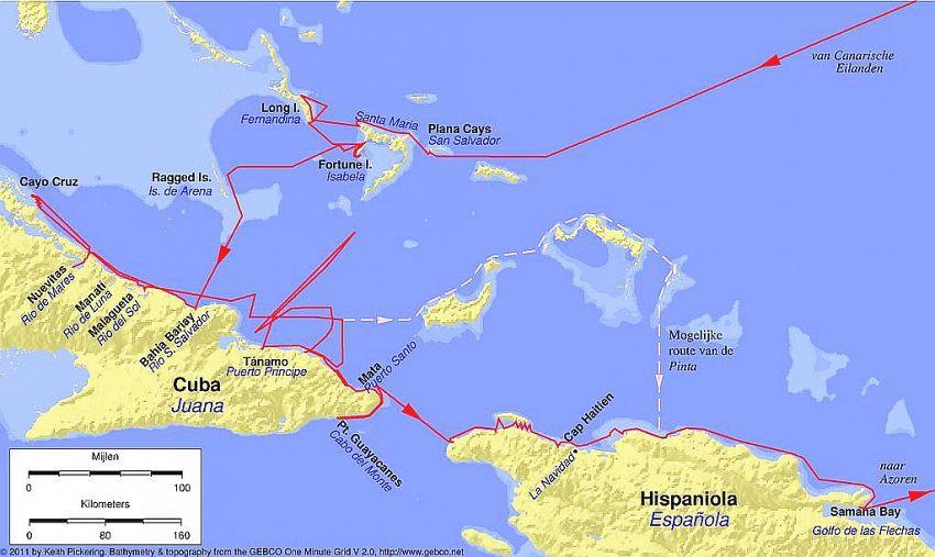 In 1492, Cristofor Columb a început prima sa călătorie spre America din portul spaniol Palos de la Frontera