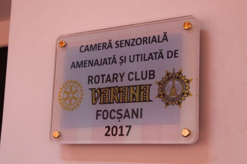 Camera senzorială a fost rodul Balului de Caritate din acest an al Clubului Rotary Varana Focșani
