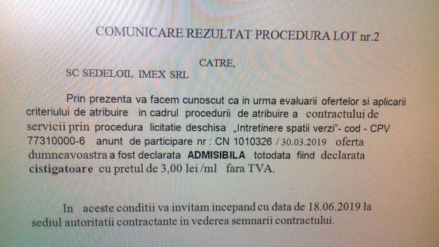 Anunț atribuire contract întreținere spați verzi Focșani-lot 2-Foto:adevarul.ro