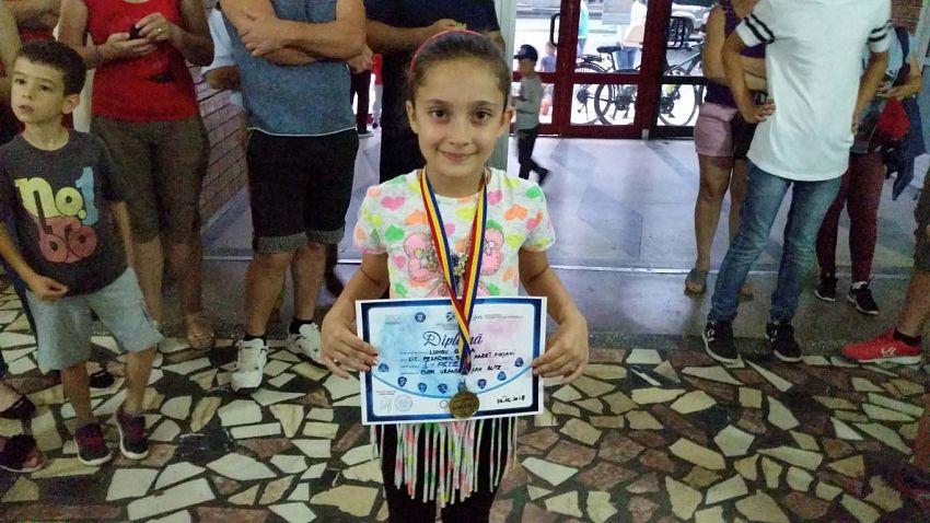 Loc I Fete - Lungu Giulia  la Cupa Vrancei la șah blitz pentru copii și juniori grupa open -26.06.2018