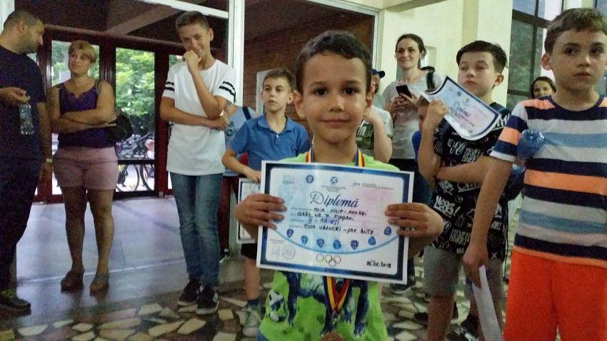 Loc III Baieti - Toia Filip la Cupa Vrancei la șah blitz pentru copii și juniori grupa open -26.06.2018