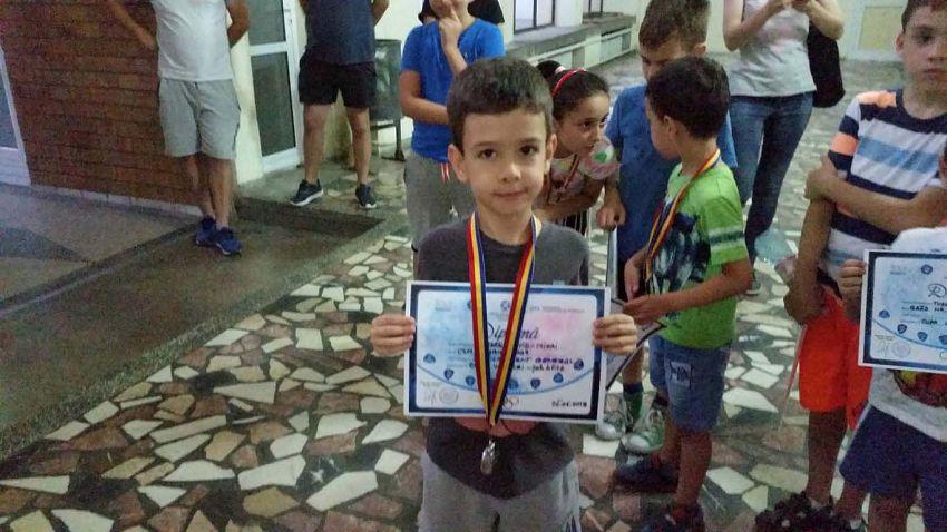 Loc II Clasam general - Andrei   David la Cupa Vrancei la șah blitz pentru copii și juniori grupa open -26.06.2018