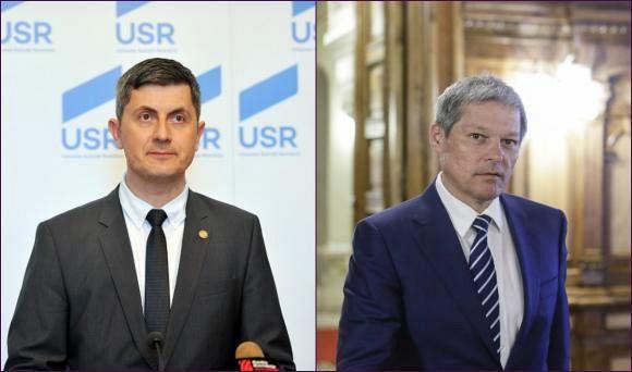 Dan Barna și Dacian Cioloș urmează să decidă dacă formațiunile lor, USR, respectiv PLUS, vor candida pe liste comune la alegerile europarlamentare din 2019 -Foto:digi24.ro