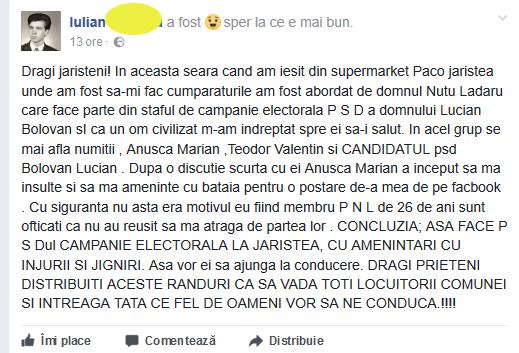 Postare Iulian G