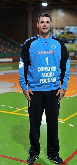 Emilian Marocico portarul echipei de handbal masculin CSM Focșani 2007