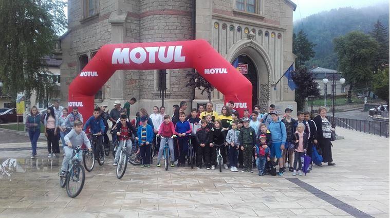 Foto: START la proba de îndemânare biciclete din Piața ,,Ștefan cel Mare''