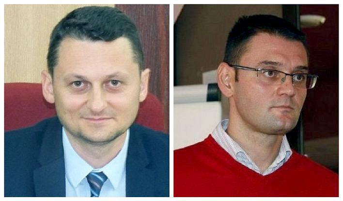 FOTO: Postul de director executiv al Direcției Județene de Cultură Vrancea ar urma să fie ocupat în curând de Cristi Irimia (foto stânga). Victor Traian Negulescu (foto dreapta) ocupa această funcție din 2013 și s-ar fi transferat deja la Primăria Focșani.
