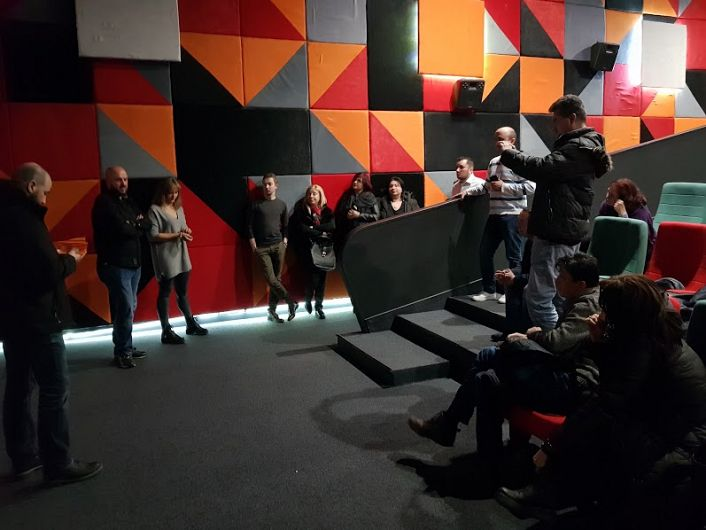 Foto: Regizorul Cătălin Saizescu și actrița Georgiana Saizescu au stat de vorbă cu spectatorii prezenți la premieră