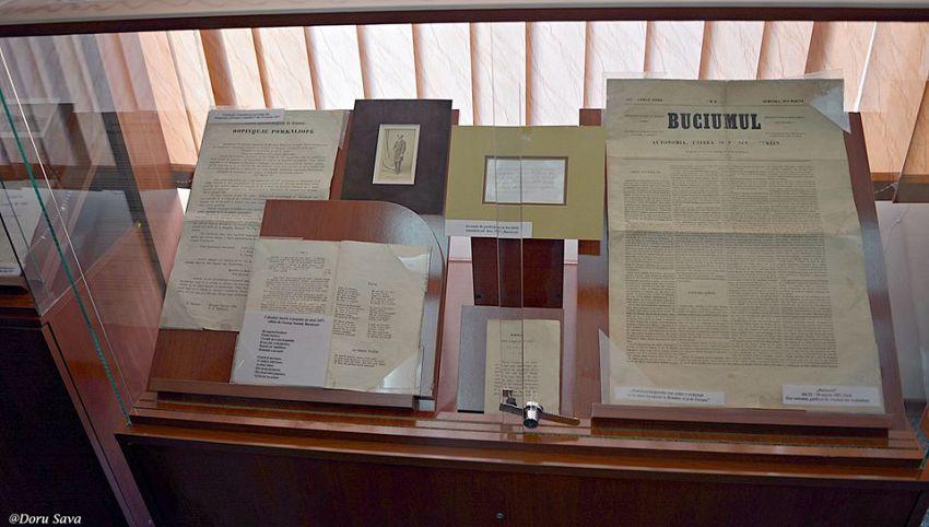 Un exemplar din Buciumul, un ziar de propaganda unonista, se pastreaza la Muzeul Unirii