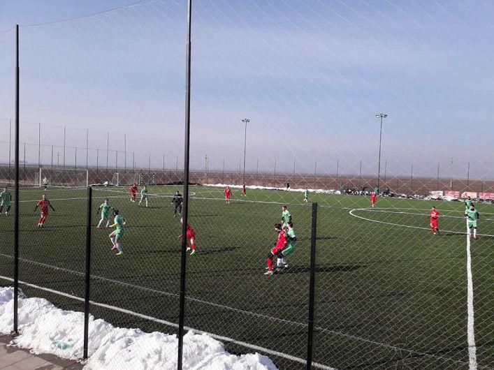 CSM 07 Focșani - Viitorul Curița 2 - 1(1-1) în meciul de pregătire de la finalul cantonamentul de iarnă al fotbaliștilor focșăneni.Foto:Sportuldevrancea Focsani