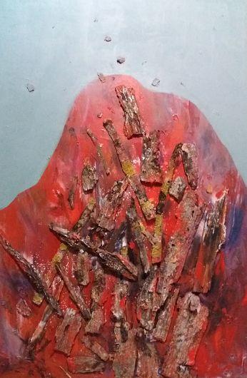 Rugă, lucrare a artistei Monica Maria Voicu