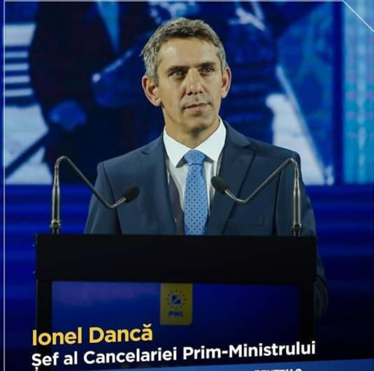 Ionel Dancă șeful Cancelariei primului ministru se va afla pe locul al doilea pe lista de candidați ai Partidului Național Liberal în județul Vrancea, la Camera Deputaților la alegerile parlamentare din 6 decembrie 2020