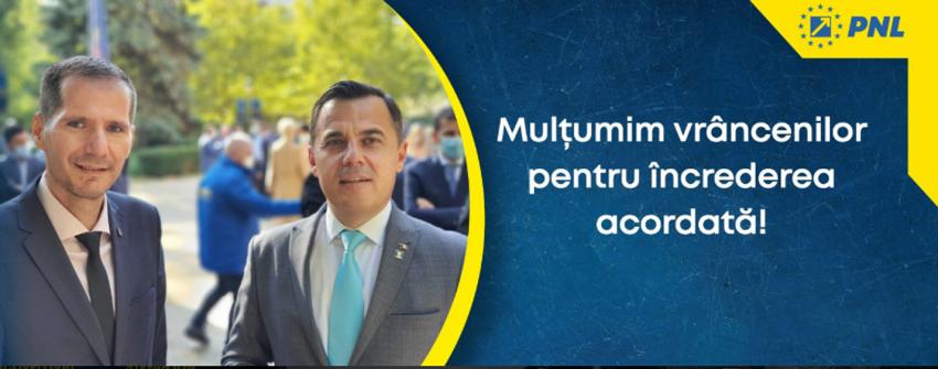 Ministrul Ion Ștefan deschide lista de candidați ai Partidului Național Liberal în județul Vrancea, la Camera Deputaților la alegerile parlamentare din 6 decembrie 2020