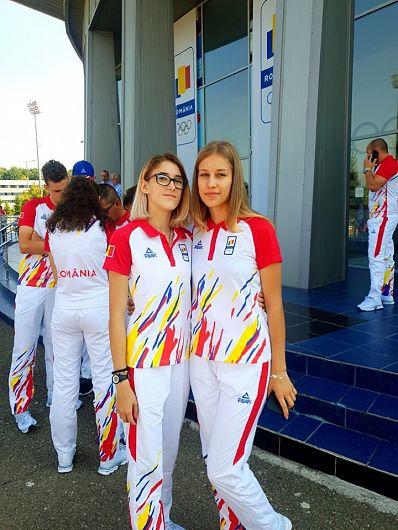 Atletele vrâncence Alisia Paruba și Corina Ilinoiu în drum spre Festivalul Olimpic pentru Tineret European de la Baku ,Foto:George Catrinescu