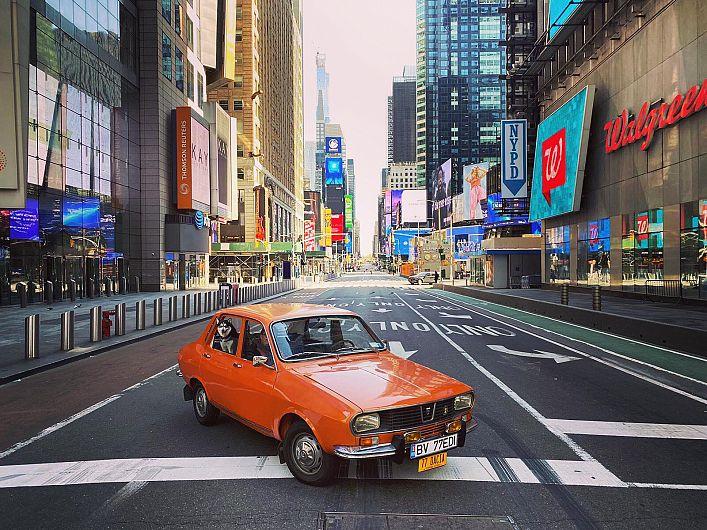 Dacia 1300, vedetă în New York. Sursa foto:Eduard Palaghita