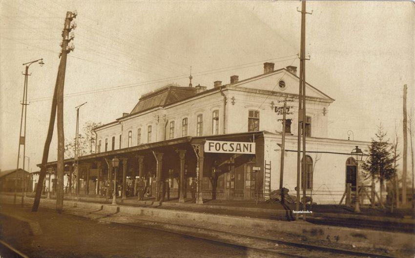 Fotografia zilei:Vechea gară a Focșaniului imortalizată de germani în 1917-Fotografie preluată de pe contul de facebookfocsaniulvechi.ro
