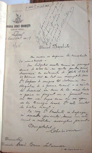 Document din arhiva personală  Dr. Romeo-Valentin MUSCĂ