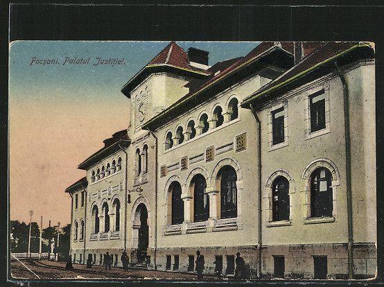 Focșani vechi.Palatul de justiție.Foto:Colectia PETRU MINCU