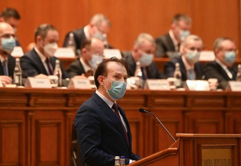 Florin Cîțu și miniștrii din cabinetul său Foto: Daniel MIHAILESCU / AFP / Profimedia