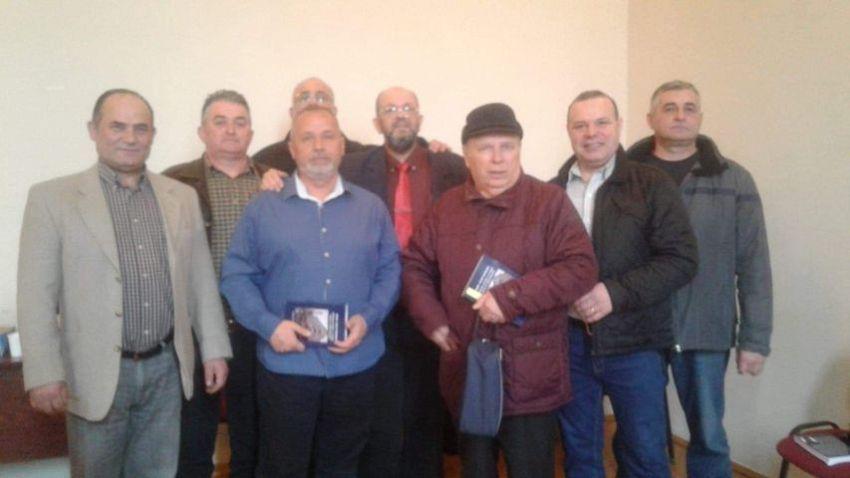 Chestorul de poliție (r) Gheorghe Viorel Ivu, fost șef al Poliției Municipiului Focșani și adjunct al IPJ Vrancea la lansarea cărții,