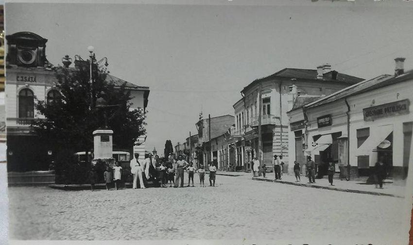 Strada care ducea către Movilița, astăzi parcul de la magazinul universal. Foto:contul de facebook Gheorghiu Diana