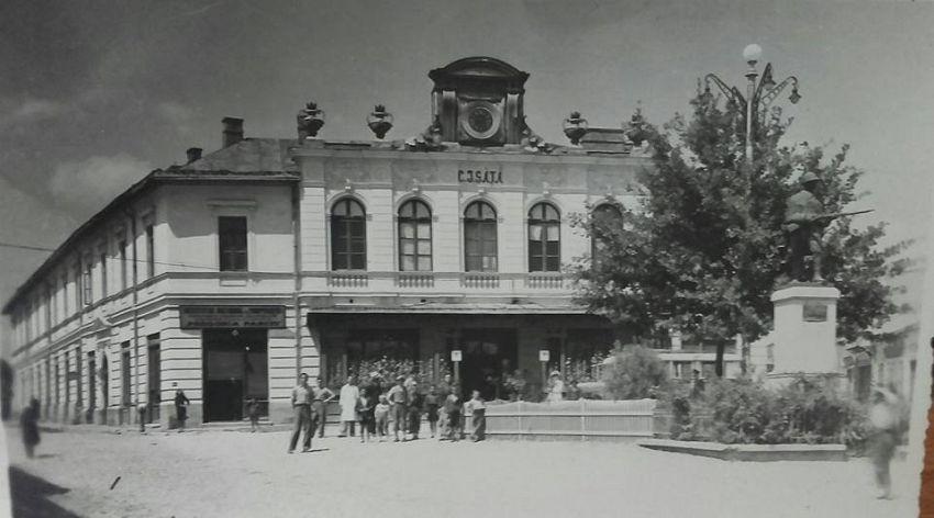 Strada din orașul Panciu, înainte de cutremurul din 1940. Foto: contul de facebook Gheorghiu Diana