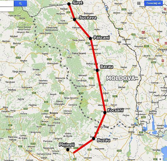Proiectanții au definitivat între timp traseul oficial, iar în următoarea fază vor decide dacă drumul va fi unul expres sau direct autostradă.Foto:.hotnews.ro