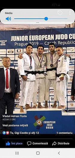 Judoka Mircea Tomescu CSȘ Focșani , antrenat de prof Dumitru Zisu , medalie de argint la la Cupa Europeană de la Praga-foto:Zisu Dumitru Sandu