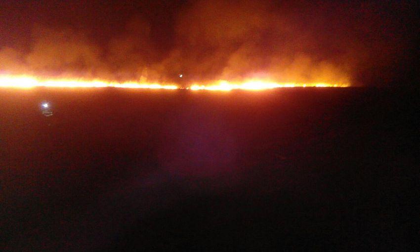 Incendiu 5 ha stuf sat Jorăști com. Vânători