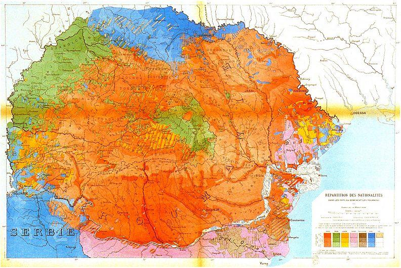 Foto 2 : Emmanuel de Martonne, Harta teritoriilor locuite de români la 1919