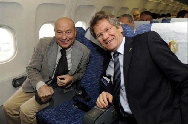 foto: Bölöni, alături de directorul sportiv Luciano D'Onofrio