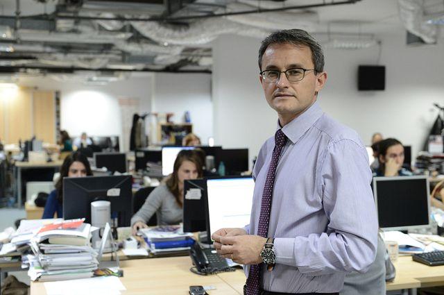 Directorul editorial al Ziarului Financiar-Cristian Hostiuc-fotografie preluată de pe site-ul zf.ro