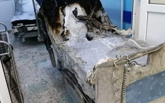 Așa arătau paturile arse în incendiul în care și-au pierdut viața zece pacienți internați la ATI a Spitalului Județean din Piatra Neamț în luna noiembrie 2020.Foto:g4media.ro