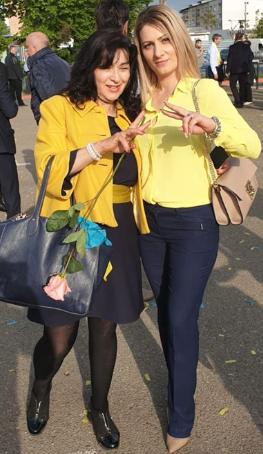 FOTO: Alina Drumea, alături de Lucica Nistor, două colege care au făcut mereu lobby pentru cât mai mult spațiu verde în Focșani