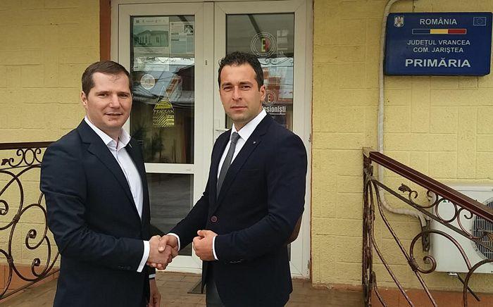 Cătălin Toma și Ciprian Marius Grama candidatul PNL la Primăria Jariștea