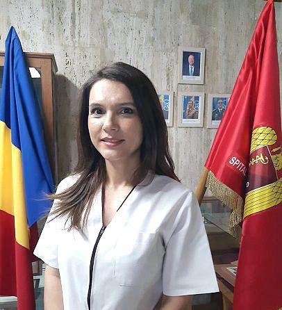 """Simona-Maria Merchea medic specialist în cabinetul ORL din cadrul Ambulatoriuluiintegrat al Spitalului Militar de Urgență """"Dr. Alexandru Popescu"""" Focșani"""